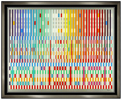 $3295 • Buy Yaacov Agam Original Color Silkscreen The Blessing Large Signed Modern Op Art