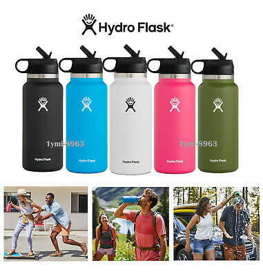 $31.59 • Buy Hydro Flask Wide Mouth 2.0 Water Bottle, Straw Lid ,32oz-Multiple Sizes & Colors