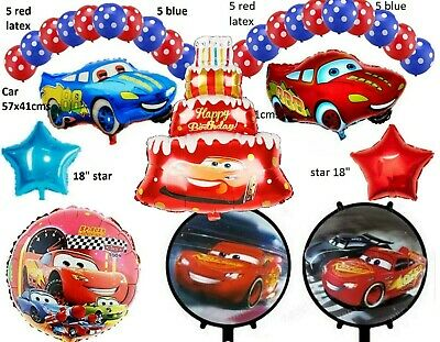 £3.49 • Buy Cars Lightning McQueen Large Helium Birthday Party Foil Balloon Party Pack