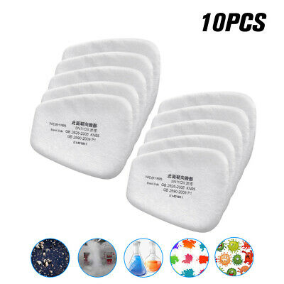 AU11.36 • Buy 10PC 5N11 Cotton Filter Safety Protect Replacement For 6200 6800 7502 Respirator