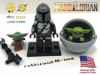$14.99 • Buy The Mandalorian With Baby Yoda Minifigure With POD Compatible W/ LEGO USA Seller