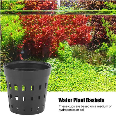 Water Plastic Grass Plant Aquatic Pots Basket For Aquarium Fish Tank Pond UK • 1.99£