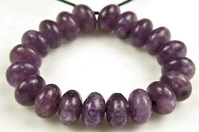 $8.08 • Buy Unique Purple Natural African Lepidolite Rondelle- 6.5mm X 4mm~ 20 Beads ~ 8155A