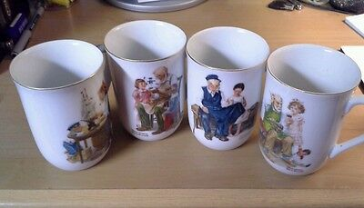 $ CDN6.90 • Buy Set Of Four Norman Rockwell Museum Porcelain Cups/Mugs