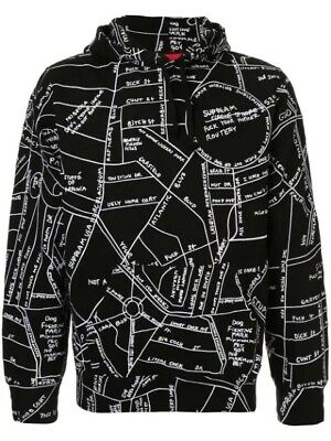$ CDN400 • Buy Supreme Gonz Embroidered Map Hoodie Size S