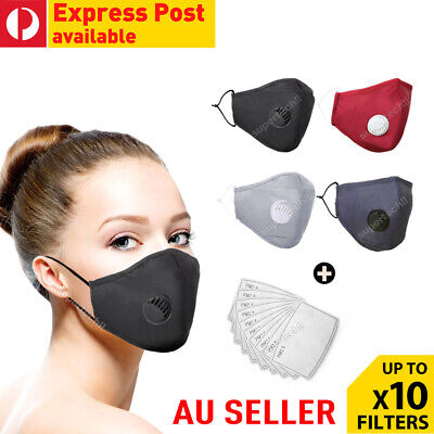 AU9.85 • Buy Washable Reusable Anti Air Pollution Face Mouth Mask Respirator + Free Filters