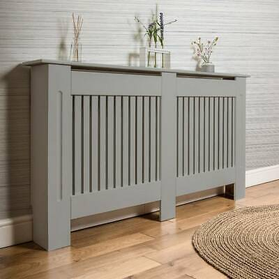 £40.99 • Buy Modern Radiator Cover Grey Wall Cabinet-Large Wooden Heating Covers