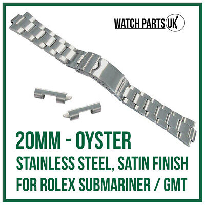 £18.95 • Buy ♛ 20mm Oyster Stainless Steel Bracelet Watch Strap For ROLEX Submariner / GMT ♛