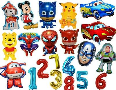Boys Happy Birthday Balloons Age Number Helium Themed Characters To Choose From  • 13.99£