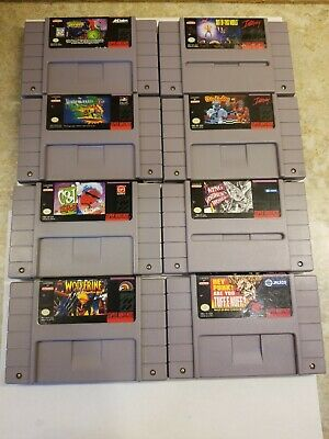 $ CDN144.99 • Buy Lot Of 8 Super Nintendo Snes Games wolverine, Spawn,cool Spot.....