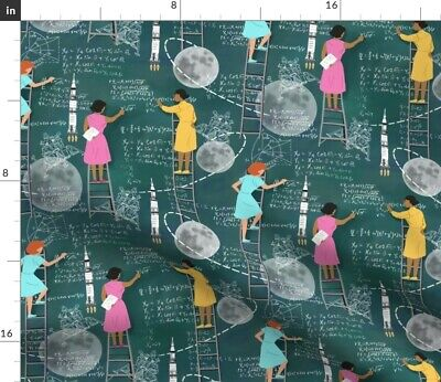 $28 • Buy Mathematics Science Stem Women Computer Female Fabric Printed By Spoonflower BTY