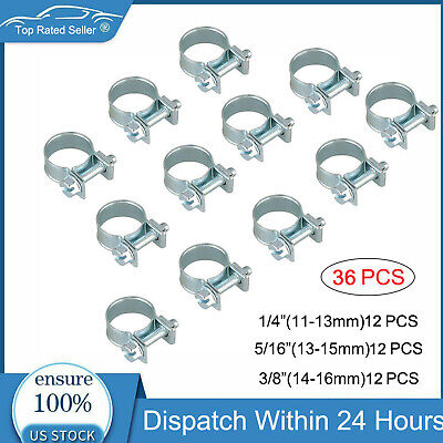 $8.80 • Buy 30 Pcs 1/4  5/16  3/8  Fuel Injection Gas Line Hose Clamps Clip Pipe Clamp Metal