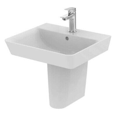 Ideal Standard Concept Air Cube Basin With Semi Pedestal 500mm Wide - 1 Tap Hole • 169.95£