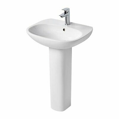 Ideal Standard Tesi Basin With Full Pedestal 600mm Wide - 1 Tap Hole • 137.95£
