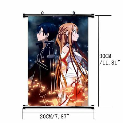 AU5.99 • Buy HOT Anime SAO Sword Art Online Jasna Tung Wall Poster Scroll Home Decor Cosplay