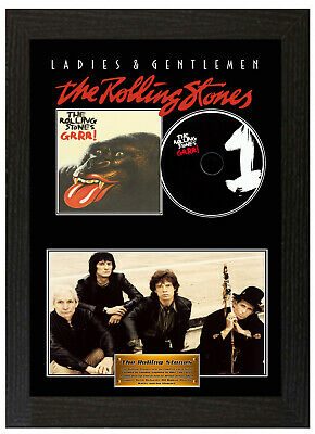 Framed Poster The Rolling Stones GRRR Display Disc CD Collectors Picture • 20£