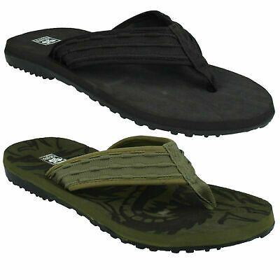 £8.99 • Buy Mens Flat Textile Toe Post Slip On Flip Flop Mule Sandals Down To Earth Size6-12