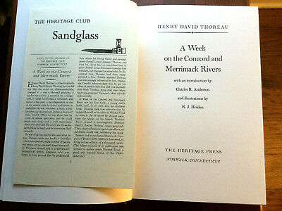 $28.49 • Buy Rare Heritage Club:thoreau- A Week On The Concord & Merrimack Rivers -ships Free