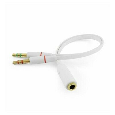 £2.68 • Buy 3.5mm Female To 2x 3.5mm Male Headphone Mic Audio Y Splitter Cable White