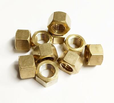 £4.99 • Buy 10x Brass Imperial Exhaust Manifold Nut 5/16  UNF High Temperature Nuts