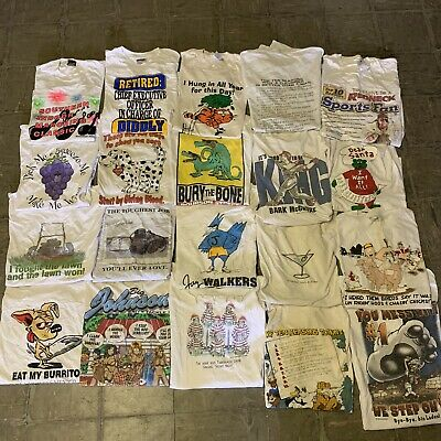 $ CDN244.39 • Buy Vintage Wholesale T Shirt 20 Lot Graphic 90s 00s Bundle Comics Random Funny