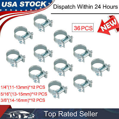 $8.85 • Buy NEW 30PCS FUEL INJECTION HOSE CLAMP 1/4 , 5/16 , 3/8  AUTO Fuel Clamps Metal US
