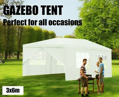 AU143.95 • Buy 6x3m Gazebo - 6 Panel White Marquee Wedding Event Outdoor Party Shade Canopy