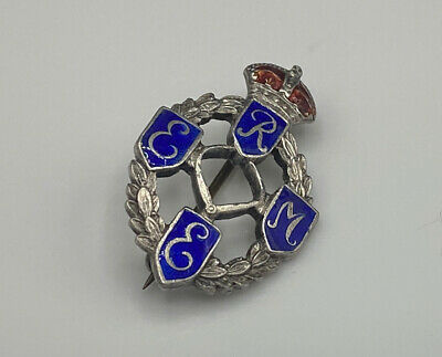 WW2 Royal Electrical & Mechanical Engineers Corps Sterling Sweetheart Brooch • 45£