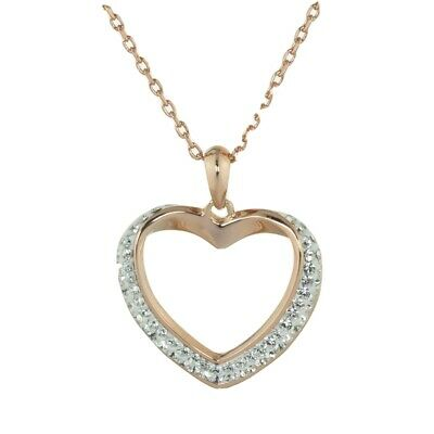 Swarovski® Crystals Rose Gold Finish Heart Necklace • 49.99£