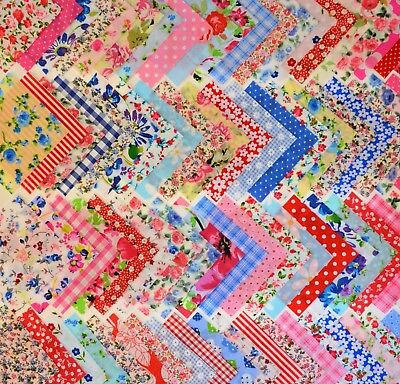 £3.87 • Buy 50 X 4 Inch Patchwork Fabric Squares Bundle Remnants Sewing Craft Material