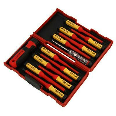 13pc VDE INSULATED SCREWDRIVER SET Slotted Pozi Phillips Torx CASE Cars Security • 15.19£