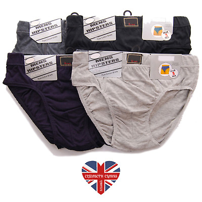 Mens Classic Traditional Hipster Y-front, Pants, Briefs, Cotton Rich, Size S-2xl • 5.99£