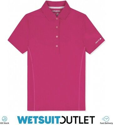 Musto Womens Evolution Sunblock Polo Magenta Short Sleeve Stay Active Sail • 47.55£
