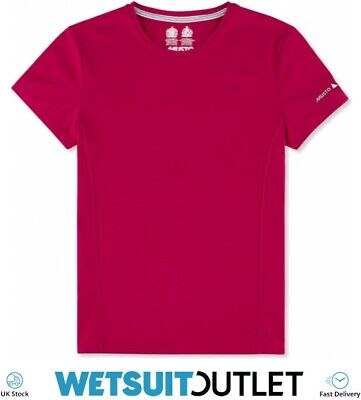 Musto Womens Evolution Sunblock Short Sleeve T-Shirt Tee Top CERISE Yachting • 34.65£