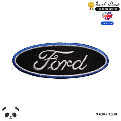 £2.29 • Buy Ford Car Racing Black Embroidered Iron On Sew On PatchBadge For Clothes Bags
