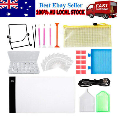 AU46.71 • Buy 5D Diamond Painting Tools DIY Art Craft + LED Pad Light Board With Stand Holder