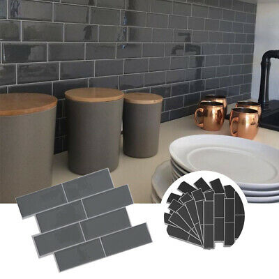 3D Self Adhesive Kitchen Wall Tiles Bathroom Mosaic Tiles Sticker Peel &Stick UK • 7.95£