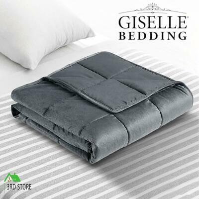 AU68 • Buy Giselle Bedding 7KG Weighted Gravity Blanket Plush Minky Deep Relax Calming Adul