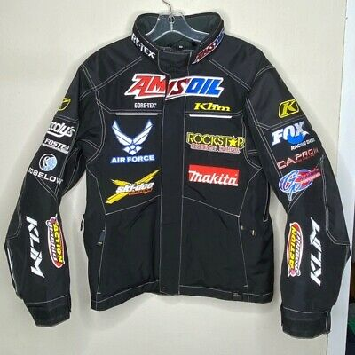 $ CDN716.87 • Buy Klim Black Moto Dirt Bike Racing Jacket Small W/ Patches Black Size Men Small