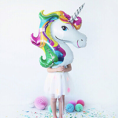 AU5.20 • Buy 112cm Giant Unicorn Foil Balloon Party Decorations Horse Kids Birthday Balloons
