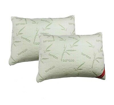 Bamboo Memory Foam Pillows Anti Bacterial Firm Medium Support Hypoallergenic  • 12.99£
