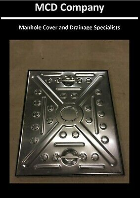MANHOLE COVER & FRAME 600x450  2.5Tonne - All Steel Lid And Frame, Access Cover • 17.84£