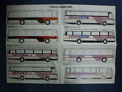 National Bus Company: National Express: NBC: Coach Liveries, 1983: Poster • 4.50£
