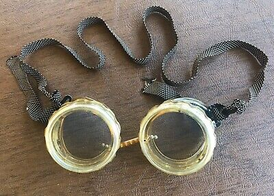 $18 • Buy Vtg Goggles Glasses Motorcycle Driving Pilot Aviator Safety Welding SteamPunk