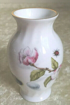 £6.50 • Buy AYNSLEY NATURE'S DELIGHT Small Vase Butterfly And Flowers England