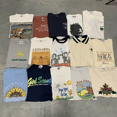 $ CDN190.08 • Buy Vintage Wholesale T Shirt 15 Lot Graphic 90s 00s Bundle Comics Random Nature