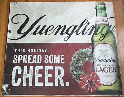 $7.99 • Buy Yuengling Beer Building Sign Flying Eagle Bottle Holiday Wreath Pottsville PA