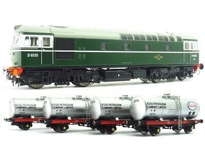 Heljan Class 33 D6535 BR Green Locomotive With 4 1960s ESSO Tankers 1096 • 215£
