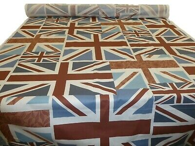 VINTAGE UNION JACK FLAG - Fryetts Cotton Fabric - Cushions, Blinds, Curtains • 8.99£