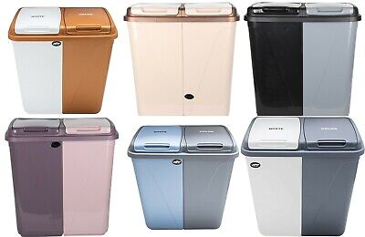 £39.95 • Buy 90L Dual Compartment Kitchen Rubbish Bin Waste Recycling And Laundry Basket